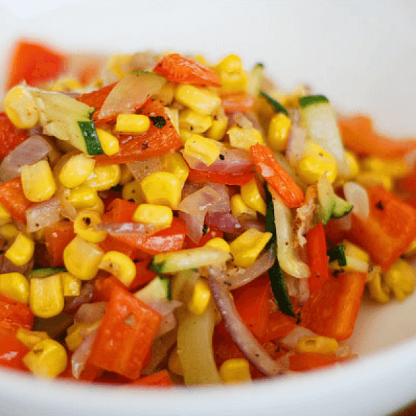 Corn with vegetables