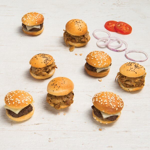 Slider) mini burger)