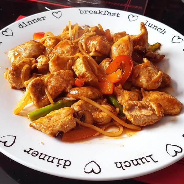 دجاج فطر وبامبو شوت