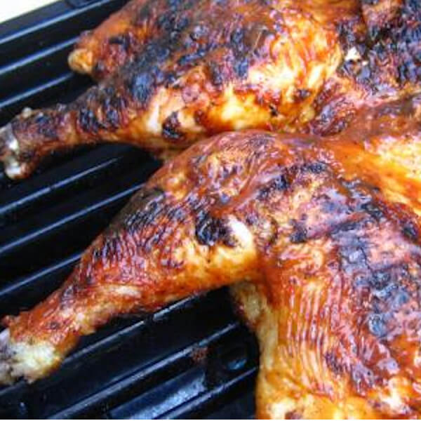 Half charcoal grilled chicken