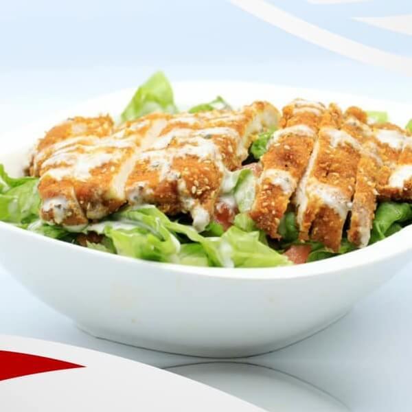 Schnitzel's salad