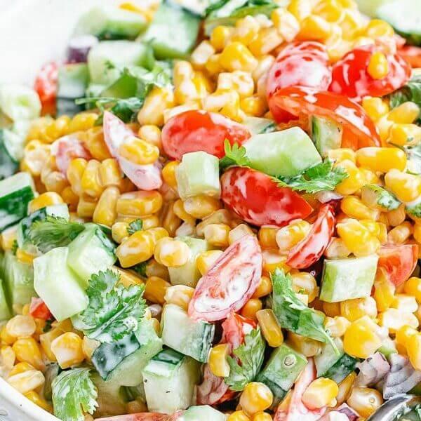 Corn salad with mayonnaise