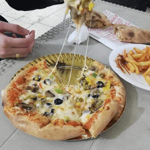 بيتزا خضار أطراف محشية