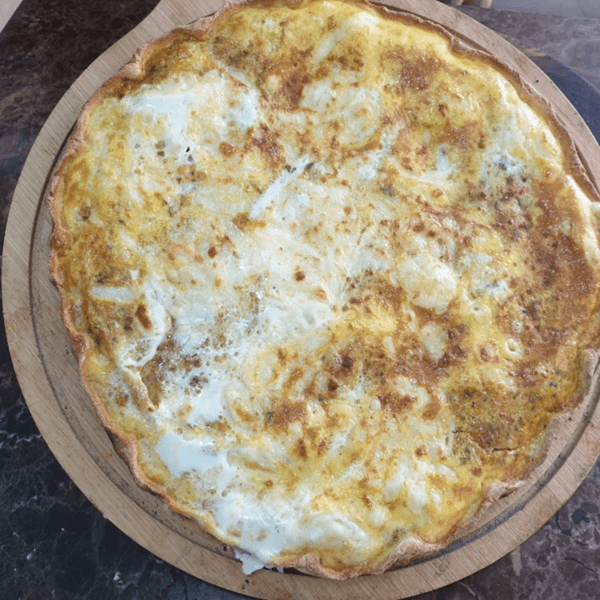 Eggs and white cheese