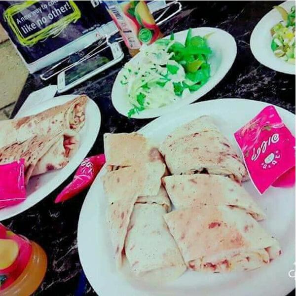 لفة سورية +بطاطا +كولا