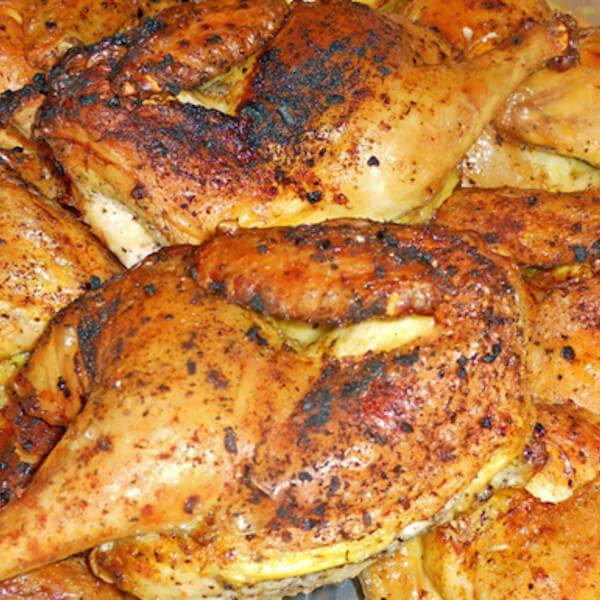 ربع دجاجة مع زعتر