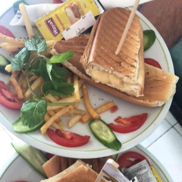 Yellow cheese sandwich