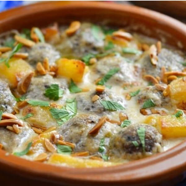 kofta with tahini