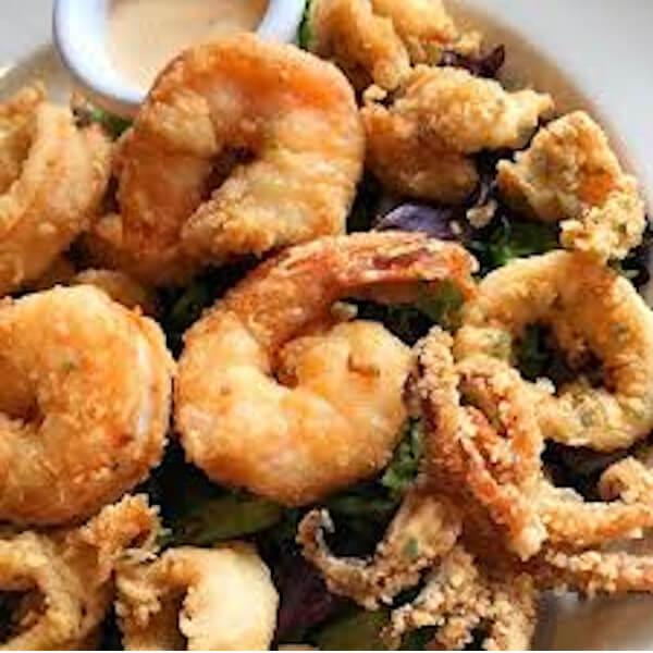 Mix calamari and shrimp