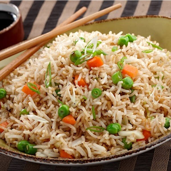 Chinese vegetables with rice