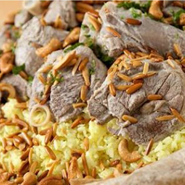 mansaf with sheap meat