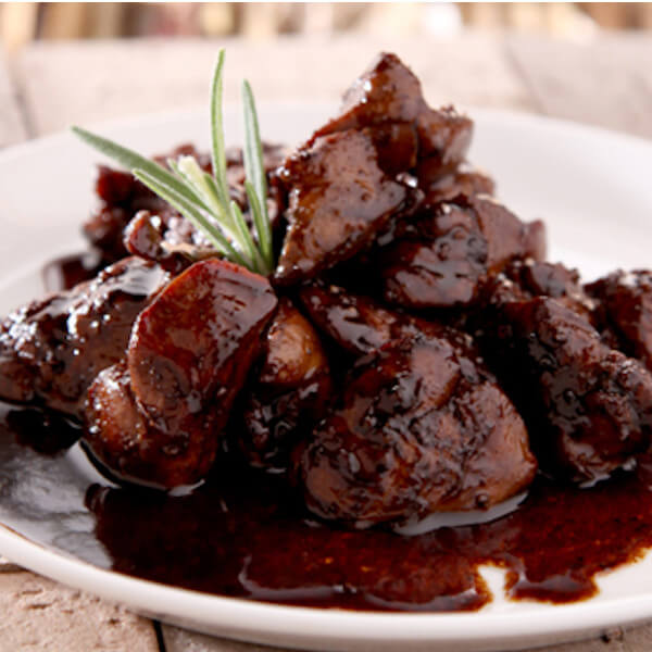 Chicken liver with pomegranate sauce