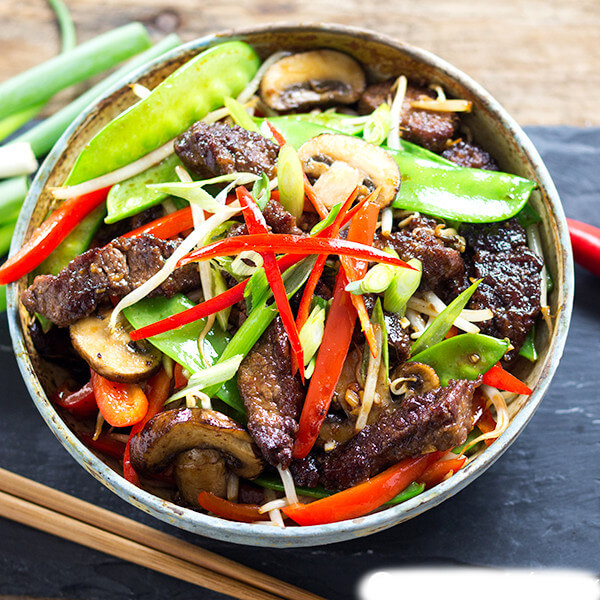 Meat with Chinese vegetable
