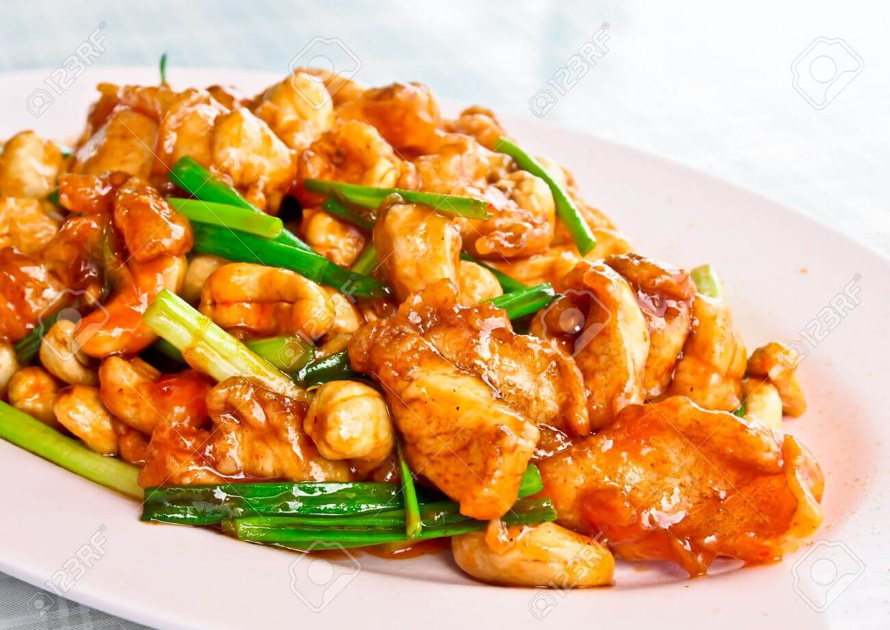 Chicken with nuts