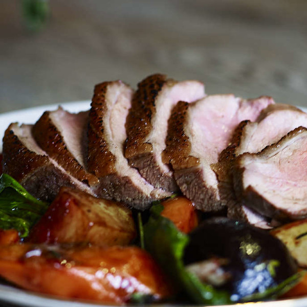 duck meat with vegetables