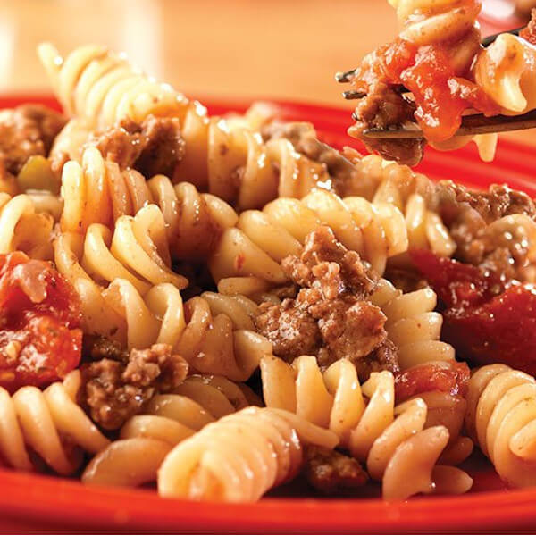 Pasta with beef