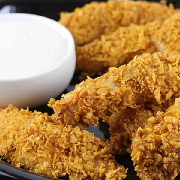 اصابع دجاج مع بطاطا