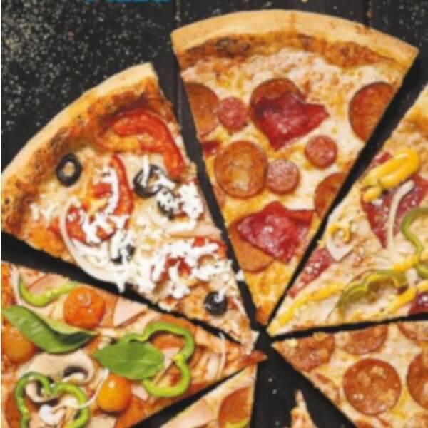 بيتزا نص خضار و نص دجاج