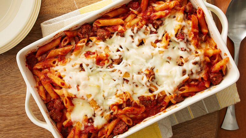 Penne cheese pasta