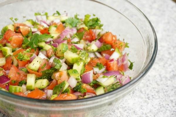 Arabian salad without tahini