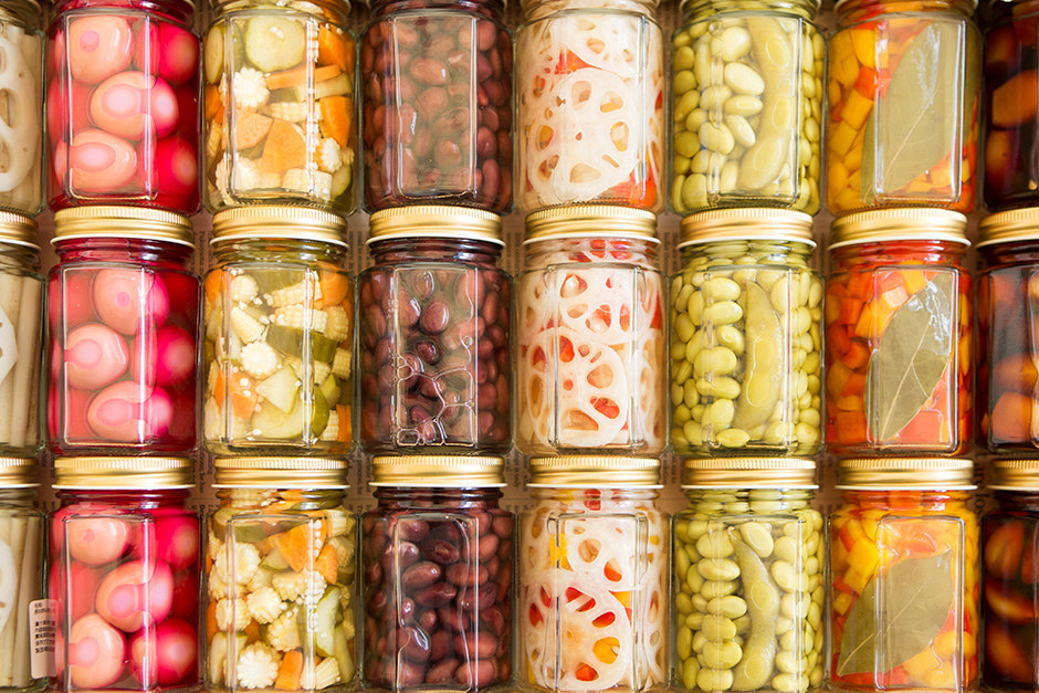 Assortment of pickles