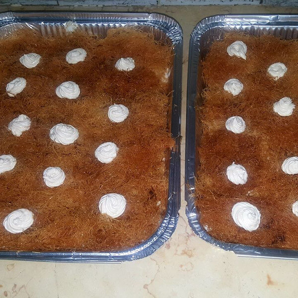 Cold Konafa  is enough for five people