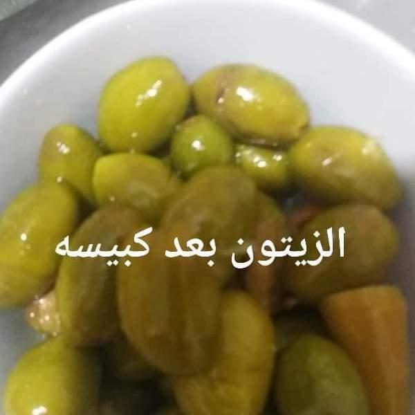 زيتون اخضر مكبوس
