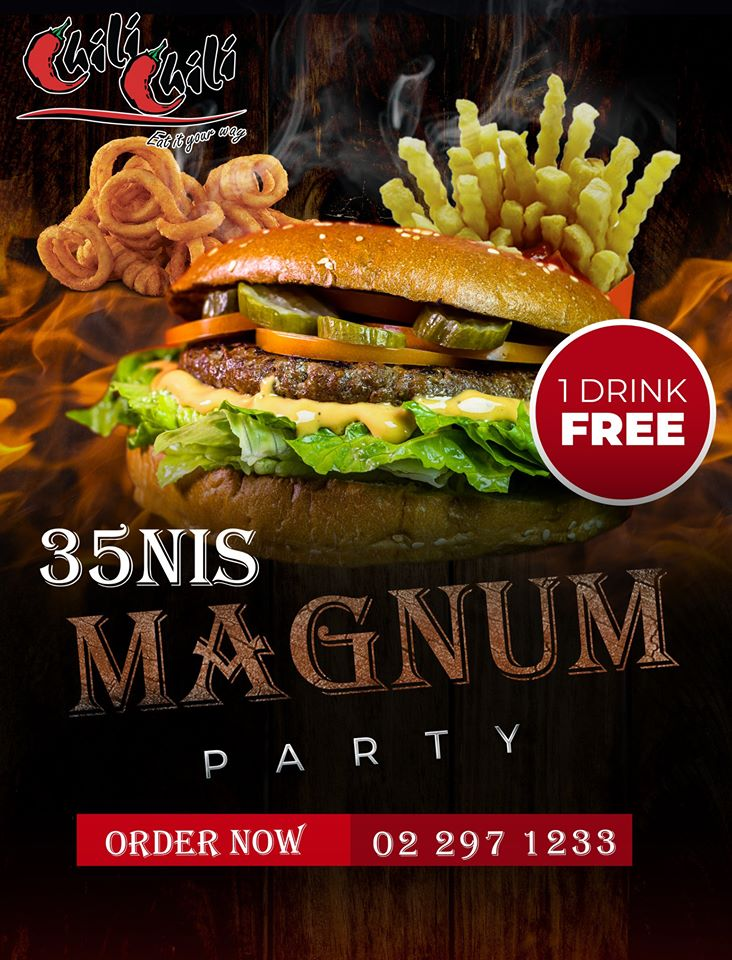 Magnum burger + fries + cola