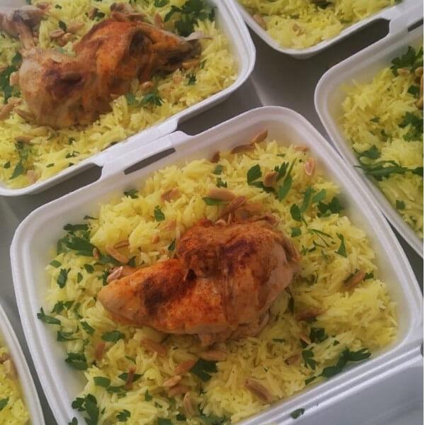Mansaf with chicken