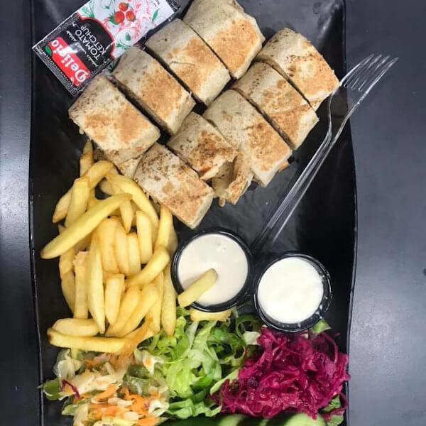 وجبة شاورما عربي