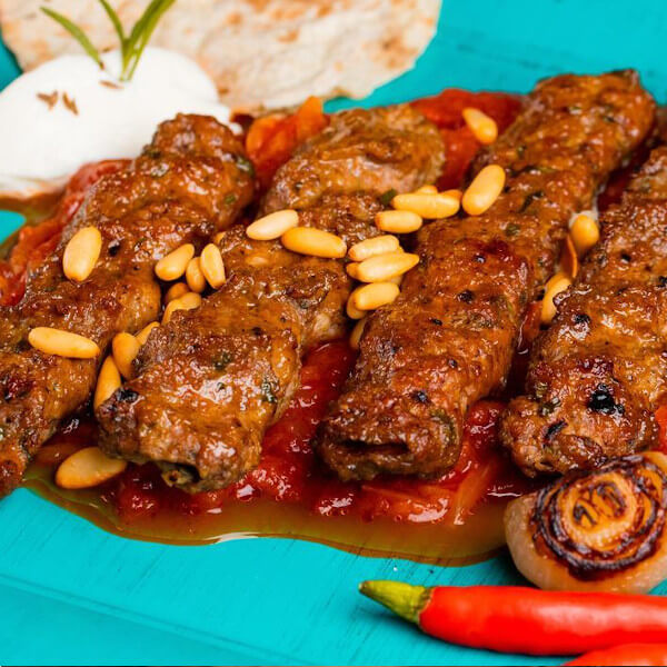 Halabi Kabab with pine nut