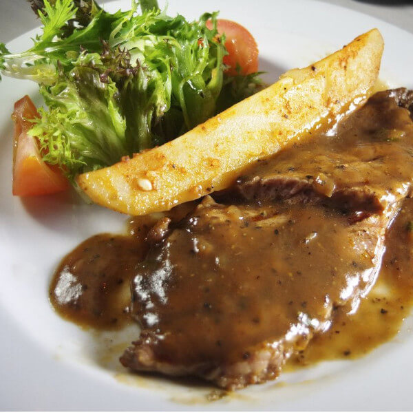 Chicken Steak with pepper sauce