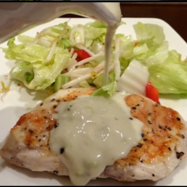Chicken Steak with cheese sauce