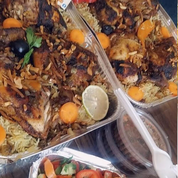 Kabseh - with chicken and salad