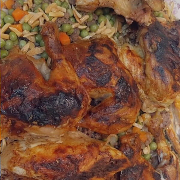 Awzy - with chicken and salad
