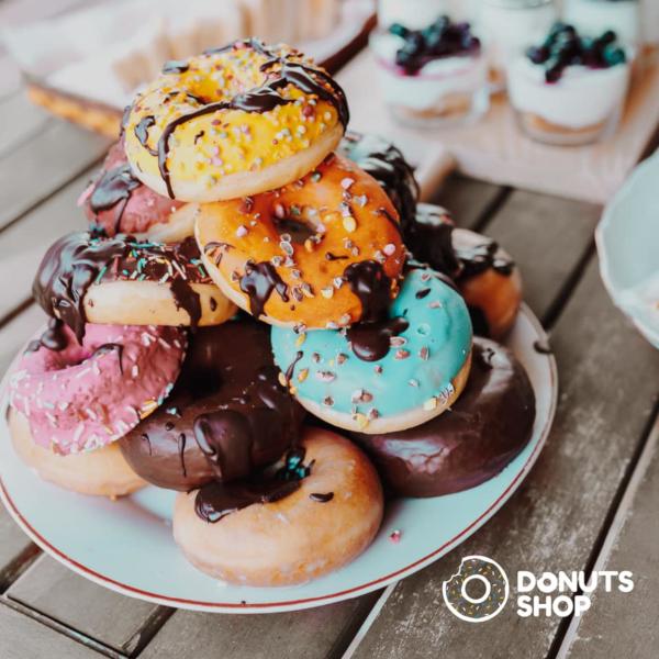 Classic donuts stuffed with custard