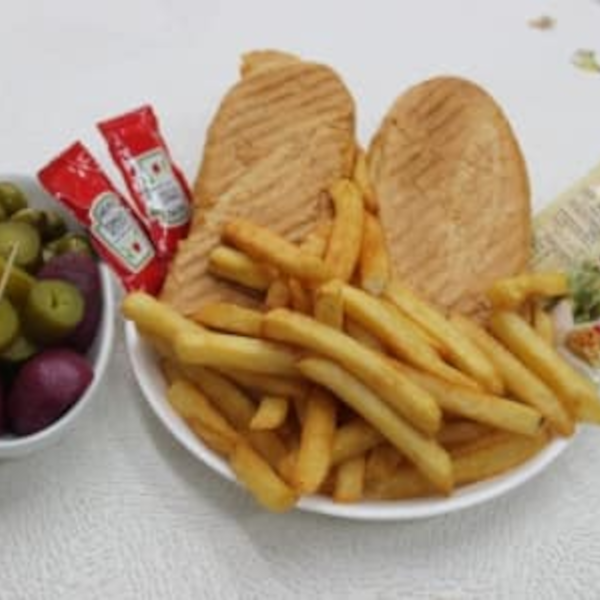 Baguette meal with cola + fries