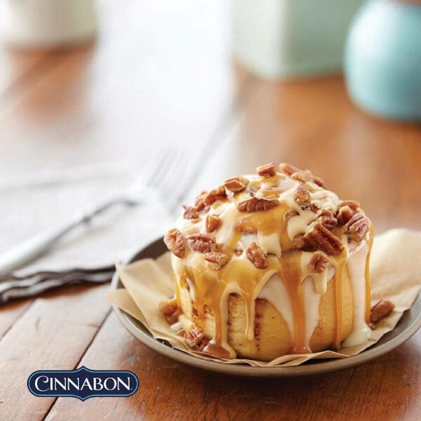 Order a piece of Cinnabon and get the second for free