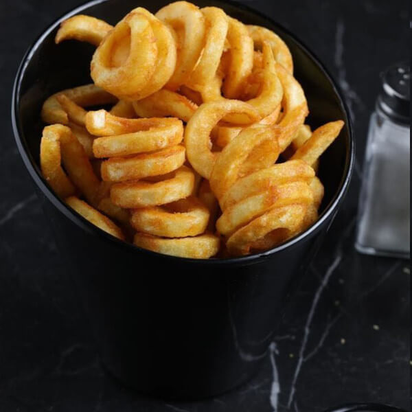 Curly potatoes