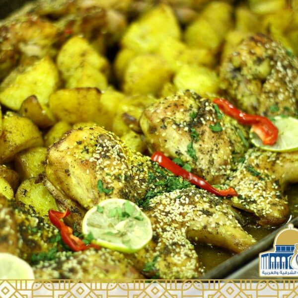Half chicken with thyme