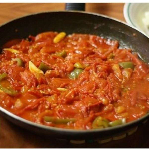 Tomato frying pan