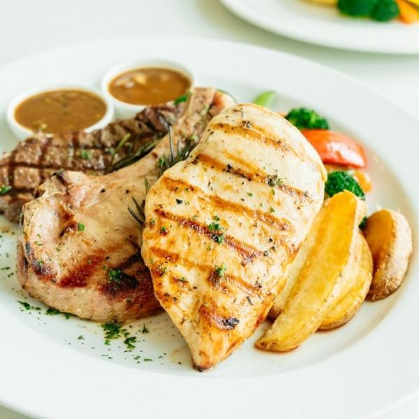 Chicken steak charcoal