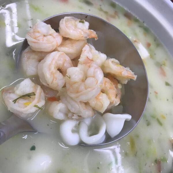 Sea food soup