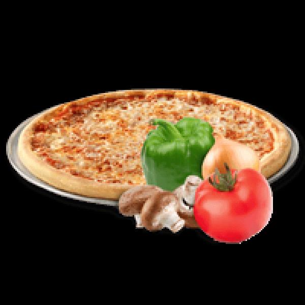 بيتزا جبنة مع فلفل اخضر وبصل