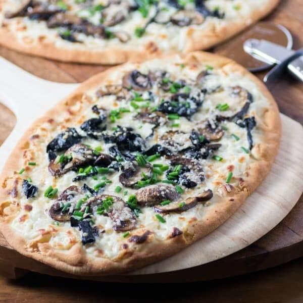 Mushroom&Olive Pizza