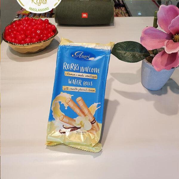3 Wafer Rolls - vanilla flavour