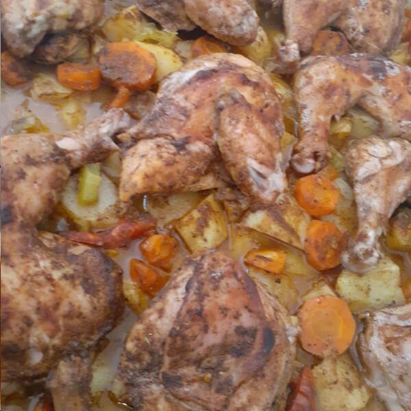 بطاطا + دجاج + ارز